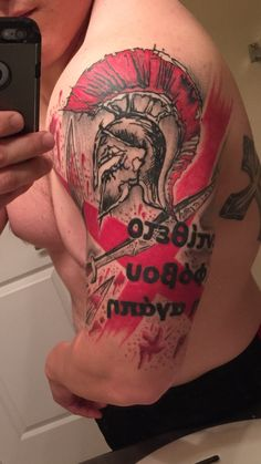 Trash polka Spartan tattoo #spartan #sword #greek #trashpolka #theoppositeoffearislove