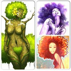 Embrace who you are no matter what you look like :-) Natural Hair Art, Pelo Natural, Natural Hair Styles, African American Art, African Art, Black Women Art, Black Art, Hip Hop Art, Afro Art