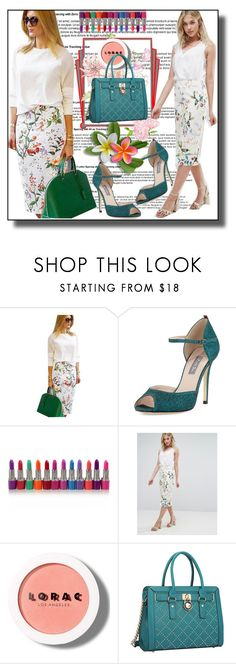 """set 111"" by fahirade ❤ liked on Polyvore featuring SJP, Oasis, LORAC and Dasein"