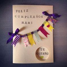 manualidades – Página 2 – Miss Galician Pie Happy Birthday Cards, Diy Birthday, Birthday Gifts, Paper Cards, Diy Cards, Tarjetas Diy, Diy And Crafts, Crafts For Kids, Diy Gifts