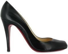 Perfection.    Christian Louboutin - 100mm Decollete Leather Pumps