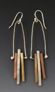Metal Clay Earrings