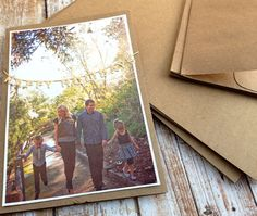 We love kraft cards and envelopes. A great start to a card.