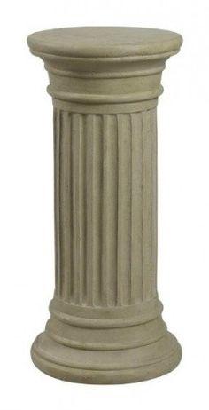 Kenroy Home 60084 Fluted Column Garden Ornament Indestructable Dog Bed, Best Bird Feeders, Column Capital, Fluted Columns, Roman Columns, Pet Gate, Container Flowers, Gnome Garden, Garden Stones