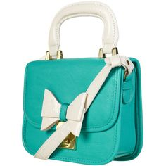 Turquoise Lady Bow Bag (1 315 UAH) ❤ liked on Polyvore featuring bags, handbags, shoulder bags, purses, accessories, bolsas, women, faux-leather handbags, shoulder strap handbags and man bag