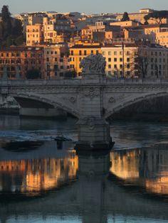 Il Ponte Vittorio Emanuele II, Rome, Italy. That light.