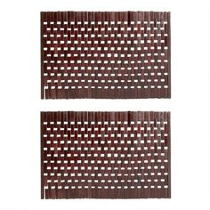One of my favorite discoveries at ChristmasTreeShops.com: Bamboo Woven Logs Placemats, Set of 2