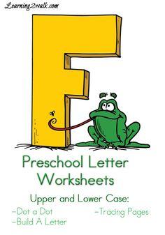 Preschool Letter Worksheets Letter F