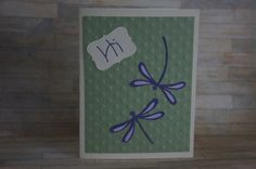 Dragonfly Card just to say Hi by MomsCrazyCraftroom on Etsy