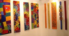 Well Being Series Assortment of handwoven tapestries and mixed media fibre art Fiber Art, Mixed Media, Hand Weaving, Tapestry, Colour, Home Decor, Hanging Tapestry, Color, Hand Knitting