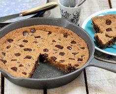 Cookie gigante en sartén