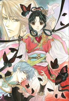 The story of saiunkoku~ season 2 Manga Love, I Love Anime, Me Me Me Anime, Saiunkoku Monogatari, Natsume Yuujinchou, Japanese Illustration, Animated Cartoons, Anime Shows, Shoujo