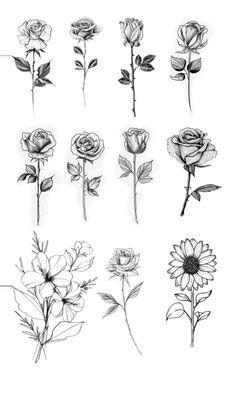 Dainty Tattoos, Pretty Tattoos, Mini Tattoos, Cute Tattoos, Small Tattoos, Tatoos, Single Rose Tattoos, Rose Tattoos For Women, Tattoos For Guys