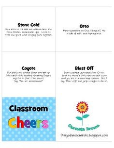 {Free}These classroom cheers help motivate and the recognize the effort of each child. Create a caring safe and supportive classroom environment by enc. Classroom Cheers, Classroom Behavior, Classroom Environment, Future Classroom, School Classroom, Classroom Ideas, Teacher Tools, Teacher Resources, Teaching Ideas