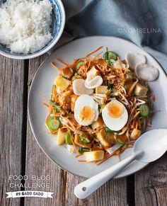 Gado gado - Food Blog Challenge #9 - Nombelina.com Gado Gado, Food Blogs, Soul Food, A Food, Slow Cooker, Foodies, Pasta, Chicken, Breakfast