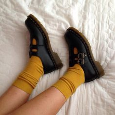 shoes socks yellow black vintage retro jewels black shoes buckles rubber shoes m. - shoes socks yellow black vintage retro jewels black shoes buckles rubber shoes mustard indie aesthetic Source by SakuraGrande - Dr. Martens, Mary Jane Doc Martens, Aesthetic Shoes, Aesthetic Black, Aesthetic Art, Rubber Shoes, Mode Vintage, Vintage Shoes, Retro Vintage
