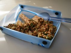 Lemony Lentils With Tuna Fillets Recipe - a tasty recipe I posted back in 2008. #Backpacking food #Trailcooking
