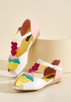 ModCloth - ModCloth Icing on the Cupcake Wedge in 10 - AdoreWe.com