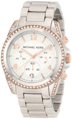 Michael Kors Women's MK5459 Blair Silver & Rose Gold Watch <3