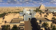 reconstruction of the ancient city of Babylon