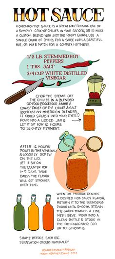 Homemade Hot Sauce from Illustrated Bites - My hot sauce addicted man will be very happy about this. Hot Sauce Recipes, Spicy Recipes, Chutney, Dressings, Sauce Chili, Coconut Oil Weight Loss, Sauce Barbecue, Homemade Sauce, Spice Mixes