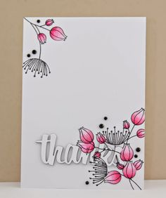 Hello. Popping in to share a card for Jane's Doodles . Today I have used 'Doodle Flowers II '...