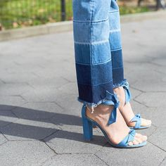 I wore these jeans with Denim booties this weekend.. but with denim sandals-perfection 👌🏻 #FO40 #denim #denimondenim 📸: @prakas