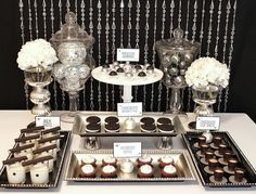 entertaining series new years eve glam dessert buffetcandy