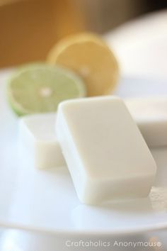 DIY Lotion bars (easy to make at home; rub your hands to activate the bar and you instantly moisturize your hands)