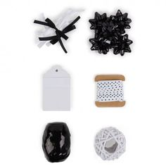 Gift wrap accessory pack - monochrome