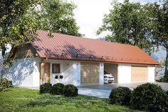 projekt G169 - Budynek garażowo - gospodarczy PRA1142