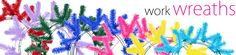 Party Ideas by Mardi Gras Outlet: Spring Colors in Work Wreath Forms