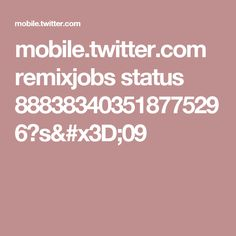 mobile.twitter.com remixjobs status 888383403518775296?s=09