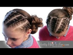 How To: French Rope Twist Braids & Side Bun | Pretty Hair is Fun - YouTubeBraid Hairstyles, Braids, braids tutorial, braids for short hair, braids for short hair tutorial, braids for long hair, braids for long hair tutorials...