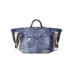 Borse Dolce & Gabbana : Shoppin bag in denim con manici in pelle blu -... by None, via Polyvore