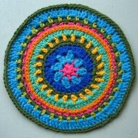 Crochet Mandala Wheel made by Carolyn, Edinburgh, Scotland, for yarndale.co.uk