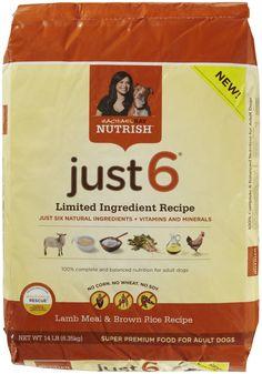Rachael Ray Nutrish Just6 Lamb Meal & Brown Rice Dog Food - 14lb