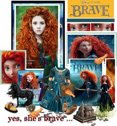"""""""yes, she's brave"""" by emilyliz ❤ liked on Polyvore"""