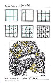 Touching the World Creativity . Zentangle Drawings, Doodles Zentangles, Doodle Drawings, Tangle Doodle, Zen Doodle, Doodle Art, Doodle Patterns, Zentangle Patterns, Doodle Borders