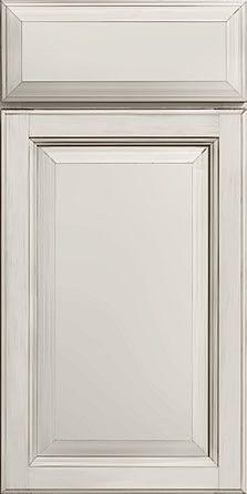 Merillat Masterpiece Cabinetry-Verona Square Maple Dove White With Cocoa Glaze from waybuild
