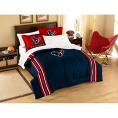 Houston Texans NFL Embroidered Comforter Twin/Full (Contrast Series) (64 x 86) xyz