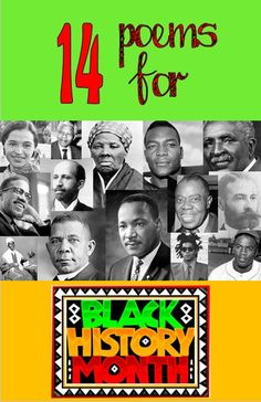 14 poems for Black History Month.  Activities + skill lessons = lots of possibilities.