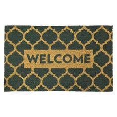 """Lattice Welcome Doormat - Blue - 1'6""""x2'6"""" - Threshold™"""