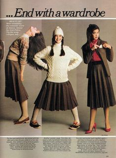 Phoebe Cates models autumnal fashions in Seventeen Magazine -- August, 1979 Grunge Style, Soft Grunge, 80s Style, 70s Fashion, Teen Fashion, Fashion Dresses, Vintage Fashion, Vintage Beauty, Runway Fashion