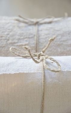 Twine-tied packages.