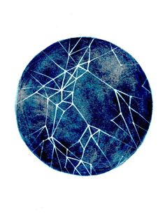 Blue Constellation Print by Elise