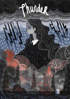 La ilustración editorial de Karl Mountford