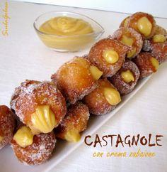 Castagnole con crema zabaione