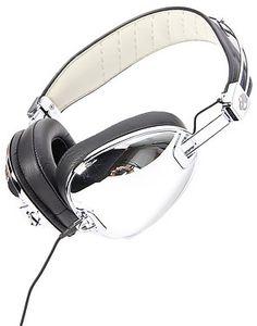 Skullcandy The Aviator Headphones with Mic in Chrome & Black