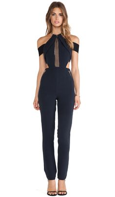 chained-up jumpsuit